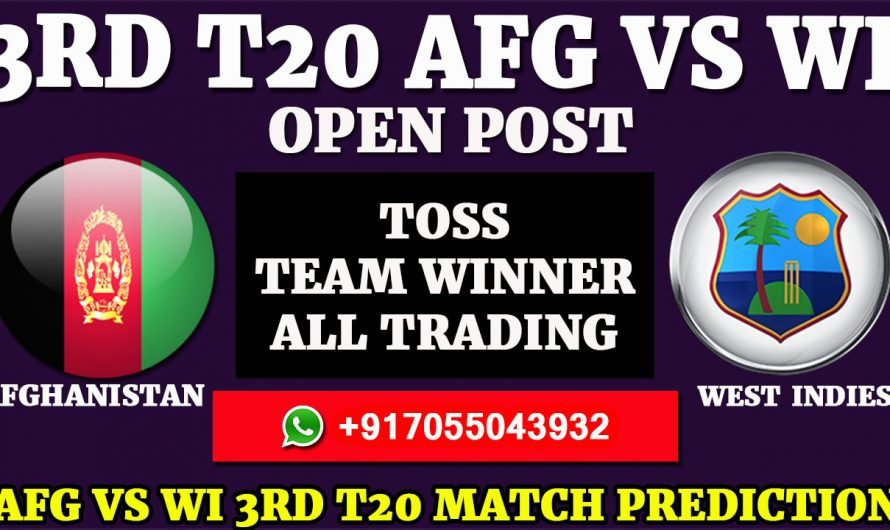 3RD T20 Match, Afghanistan vs West Indies Match Prediction & Tips, AFG VS WI