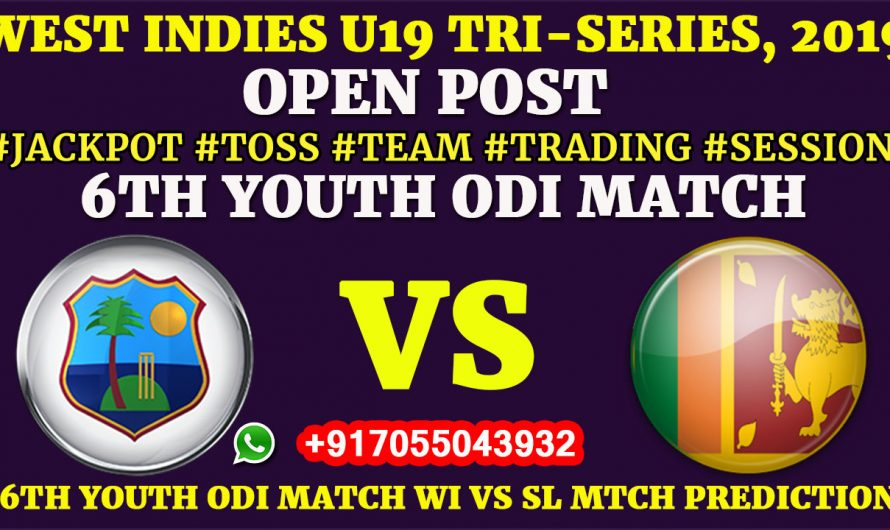 6TH YOUTH ODI MATCH, West Indies U19 vs Sri Lanka U19, Full Prediction & Tips