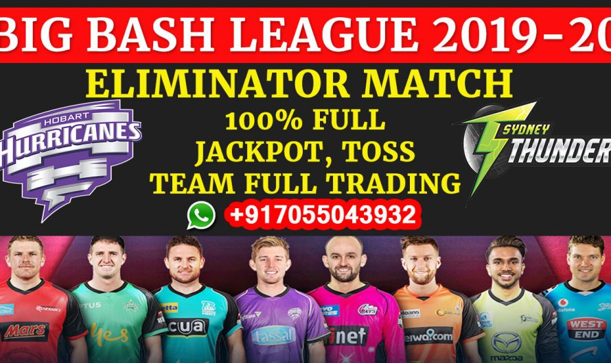 Eliminator T20 Match, BBL 2019-20: Hobart Hurricanes vs Sydney Thunder, Full Prediction & Tips