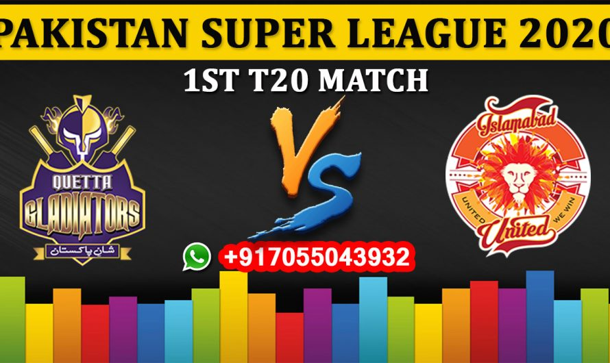 1ST T20 Match, PSL 2020: Quetta Gladiators vs Islamabad United, Full Prediction & Tips