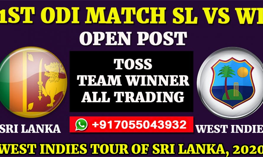 1ST ODI  Match, West Indies tour of Sri Lanka 2020: Sri Lanka vs West Indies, Full Prediction & Tips