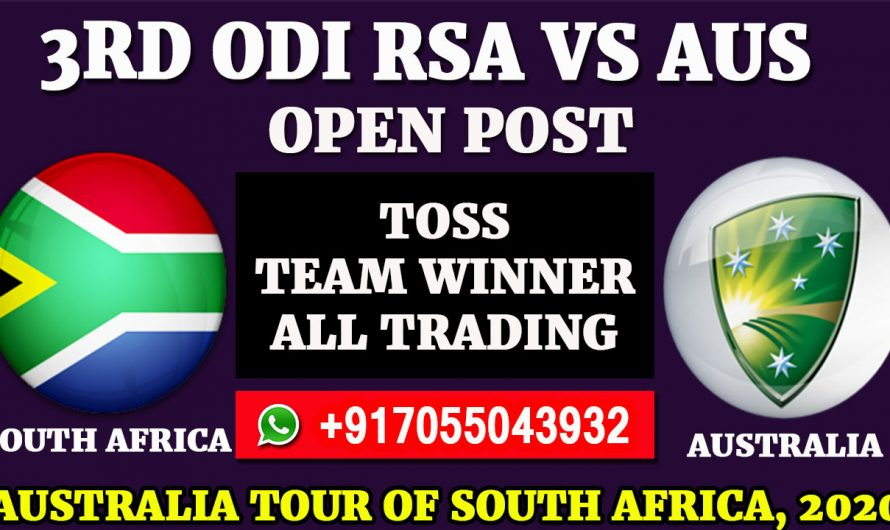 3rd ODI  Match, Australia tour of South Africa 2020: South Africa vs Australia, Full Prediction & Tips